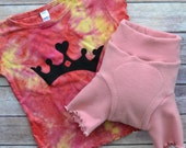 WCW Wool Interlock Pull On Double Layer SHORT Weggings Cover & Crown Tee - Bubblegum - Medium Long