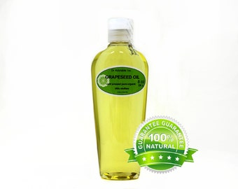 8 OZ Pure Grapeseed Oil Organic Cold Pressed