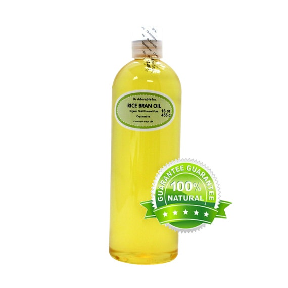 16 oz Pure Rice Bran oil Organic Cold Pressed