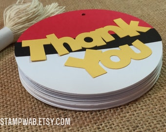 Pokemon Inspired Thank You Favor Tags (12)