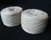 3-ply fine wool yarn, Japanese extra high quality, natural lambs light beige color, measure 24/3 (800m/100gr), 874yd, 100 grams