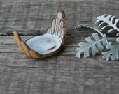 Stoneware scoop, jewelry dish, tea bag holder, appetizer serving tray