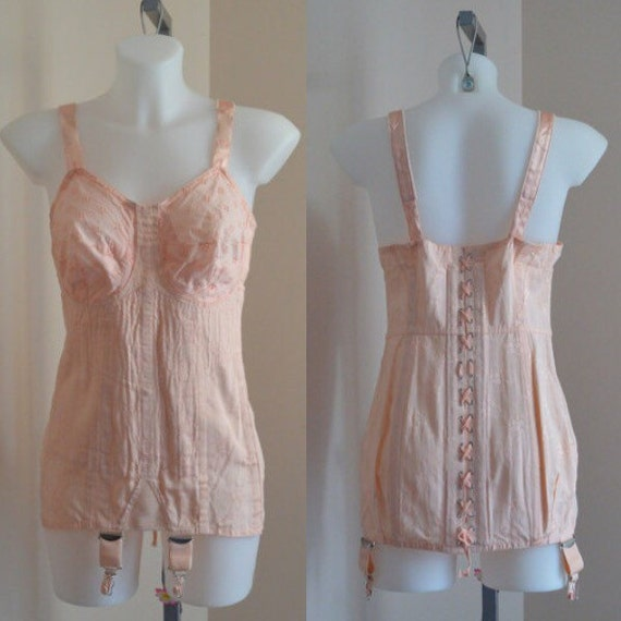 Items Similar To Vintage Corset, Vintage Peach Corset