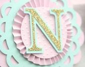 Custom nursery banner, name banner, baby's name banner, baby shower banner, girl's baby shower, 1st birthday banner, first birthday, nursery