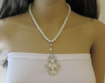Deco 1930s Necklace, Bridal 1930s Necklace, Vintage 1930s Necklace, Deco 1930s Jewelry, Bridal 1930 Jewelry, Vintage 1930s Jewelry