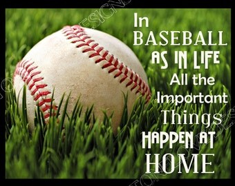 Baseball/Sport Printable Digital Wall Art ~ You Chose the size ~ 8x10, 11x14, 16x20