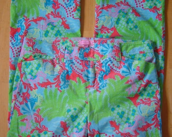 Lilly Pulitzer Vibrant Corduroy Pants - Size 12