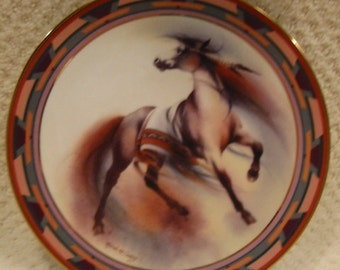 """vintage """"Wind Dancer""""  limited edition collector's plate from Desert Rhythms by Melinda Cowdery . . . second issue . . .porcelain"""