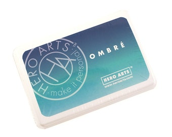 OMBRE blue to green Ink Pad - navy to pool ombre ink for scrapbooking & paper crafts - acid free, waterproof, permanent on most papers