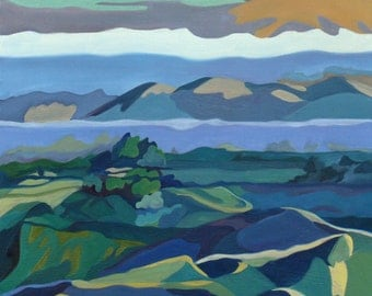 California Mountains Contemporary Oil Painting