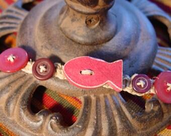 Macrame fish bracelet/anklet