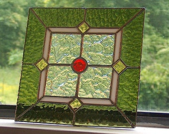 Custom Light Covers in Stained Glass