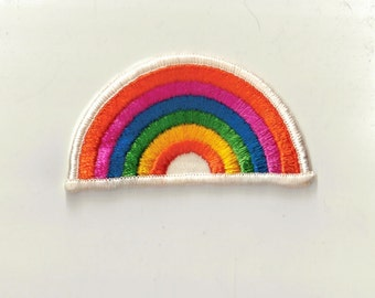 Rainbow Colorful Sew on Retro New Vintage Patch Applique