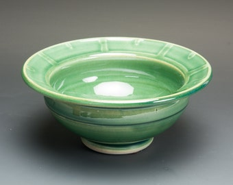 Handmade porcelain jade green appetizer, candy, cereal, rice bowl 1.5 cup 2512