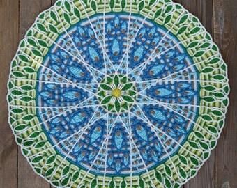 Crochet Overlay Mandala No. 8, Pattern - PDF in English, Deutsch