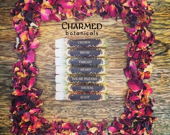 CHAKRA Sample Set - Healing Botanical Perfume Oils