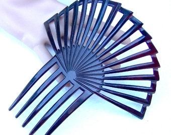 Art Deco Hair Comb Black Celluloid Sunray Style Spanish Comb Hair Pin Hair Accessory Hair Jewelry Headdress Headpiece
