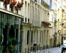Paris Photography: Streets of Paris & Red Geraniums