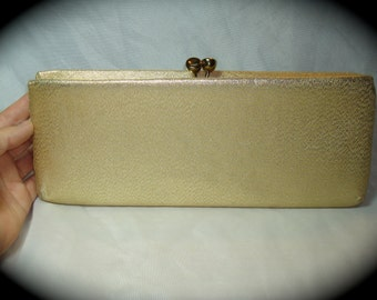 1960s Gold Lame Large Clutch.