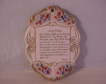Lefton China Lord's Prayer Wall Plaque