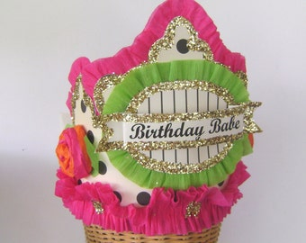 Birthday hat, Birthday Crown,  - BIRTHDAY BABE or customize- adult or child