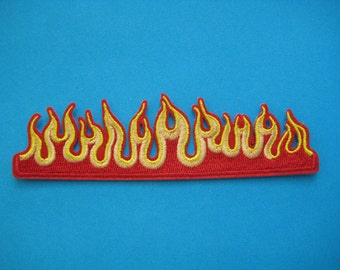 Iron-on embroidered Patch Flames 5 inch