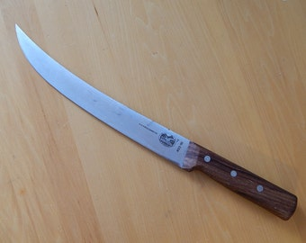 "Vintage R H Forschner Co Victorinox Swiss Switzerland 10"" Chef Butcher Slicing Knife"