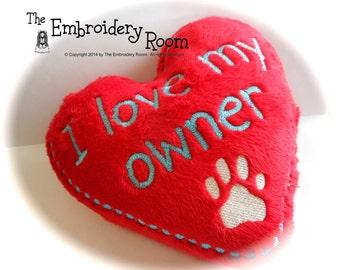 Softie - Heart Shaped Dog Toy