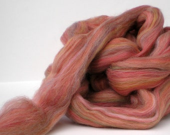 "Ashland Bay Multi Colored Merino for Spinning or Felting ""Hollyberry""  4 oz."