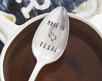 Made In - Hand Stamped Vintage Coffee Spoon for COFFEE LOVERS
