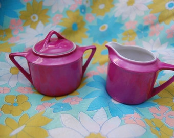 Purple Creamer and Sugar Set- Made in Germany