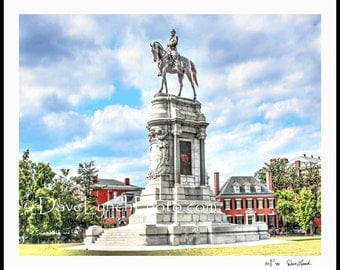 Richmond VA  - Robert E Lee Monument - Statue - General - Civil War - Renactment - Confederate -  Fine Art Photography Print by Dave Lynch