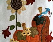 Shades of Splendor Wool Applique Wall Hanging