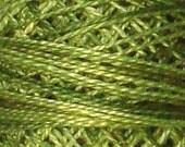 Size 8, O519, Valdani Perle Cotton, Green Olives