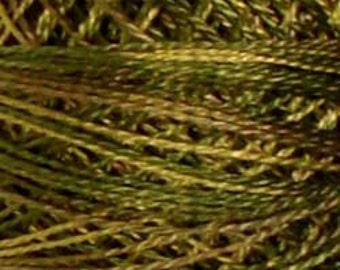 Size 8, P2, Valdani Perle Cotton, Olive Green