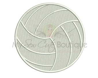Volleyball Embroidery Design - 10 Sizes - Instant Download