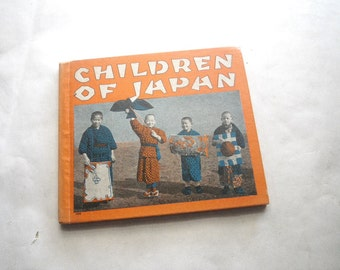 1930s Children of Japan Book - Illustrated Black & White Photos