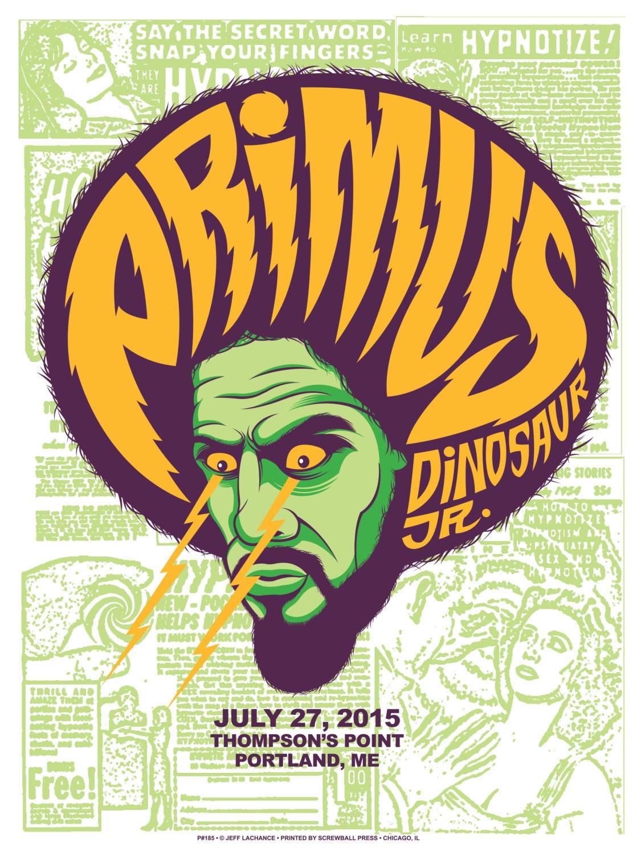 Primus / Dinosaur Jr. Hand Printed Silkscreen Concert Poster
