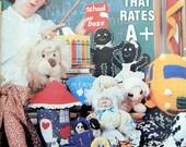 Annie's Pattern Club Newsletter Magazine Num 16 Aug-Sept 1982 Crochet Dolls, Lamb, Lion, School Bus, Sew Cookie Jar, Machine cover