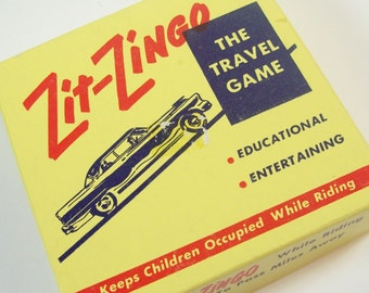 Vintage 1950s Zit-Zingo Travel Game For the Car Road Trips