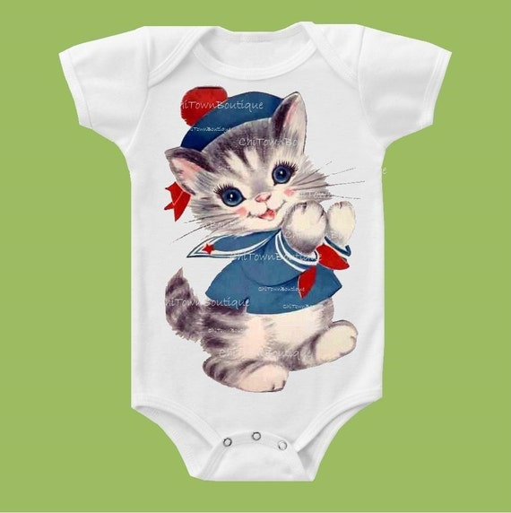 Sailor Kitty, One Piece, Baby One , Toddler T-Shirt Baby Girls', Baby Boys', Girls top, Boys Top, Kids clothes ChiTownBoutique.etsy