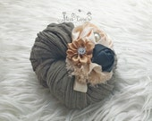 Newborn Cheesecloth Wrap Set, Photography Prop Wrap Set, Newborn Photography Prop, Newborn Baby Girl Photo Prop Wrap, Baby Girl Headband Set