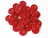 Vintage Large Red Buttons