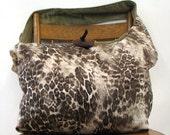 ANIMAL PRINT BAG - Bohemian Bag - Crossbody Bag - Over the Shoulder Bag - Boho Bag - Slouch Bag - Hobo Bag - Crossbody Purse - Vegan Purse