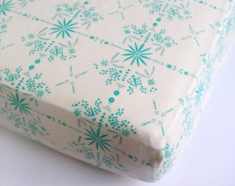 Changing Pad Covers - SALE Turquoise Nursery Bedding / Changing Pad Cover / Aqua Nursery