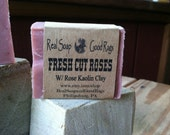 Fresh Cut Roses Handcrafted Soap with Rose Kaolin Clay
