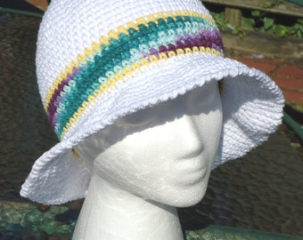 Floppy Sunhat, Crocheted hat, Summer hat, Beach hat