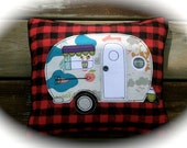 Made to order Little Vintage Camper Pillow, decorative accent pillow