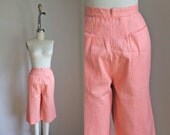 vintage 1950s/60s peddle pushers - SALT WATER TAFFY pink high waist pants / S