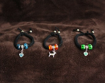Small dog necklace  or Human bracelet ready to go